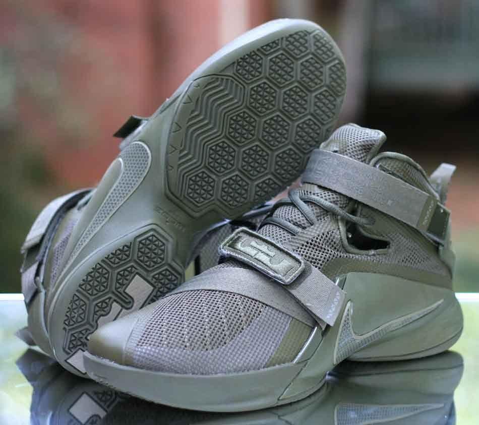 half off efa1d 8d4c2 Nike Lebron Soldier IX 9 PRM Men s Basketball Shoes Olive 749490-223 Size  10