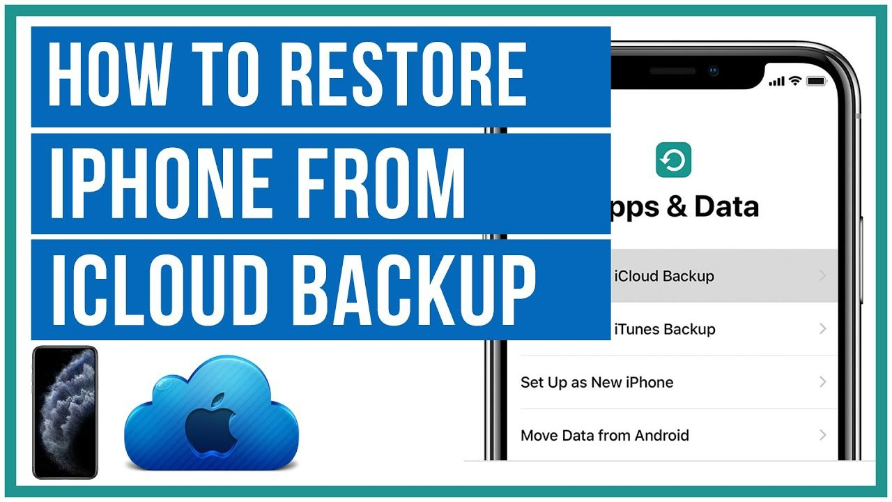 How To Restore Iphone From An Icloud Backup Full Tutorial In 2020 Icloud Backup Tutorial