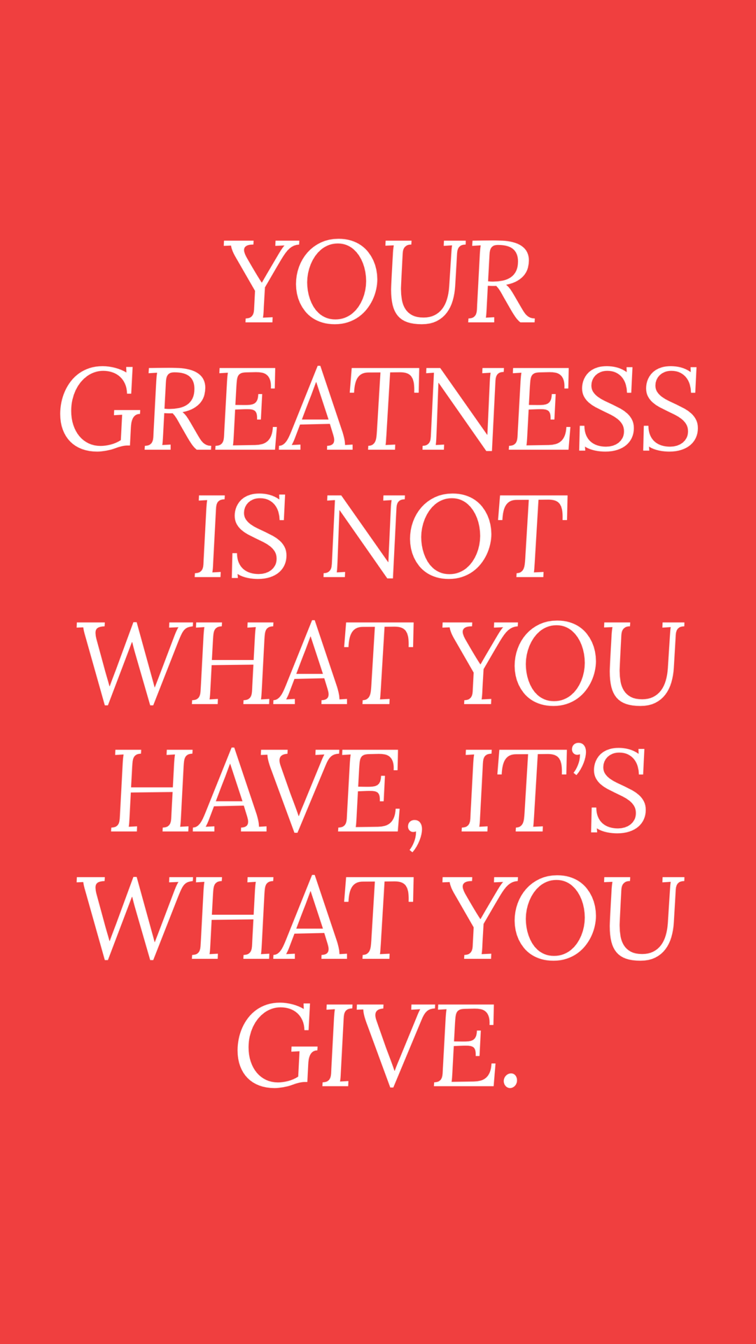 Your Greatness Donation Quotes Giving Quotes Giving Back Quotes
