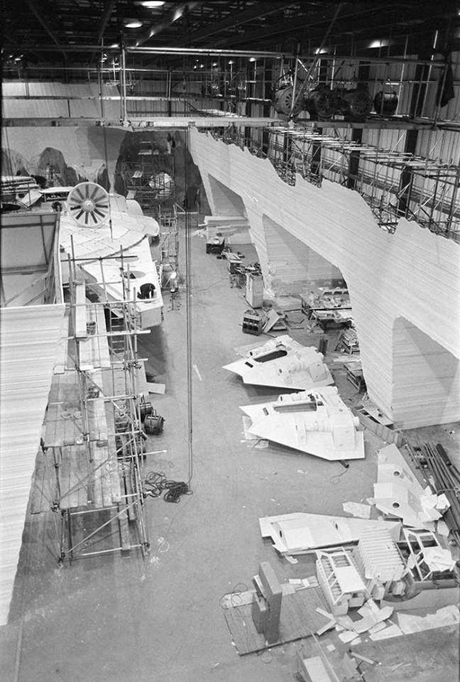 """The Empire Strikes Back"" / full scale spaceship construction..."