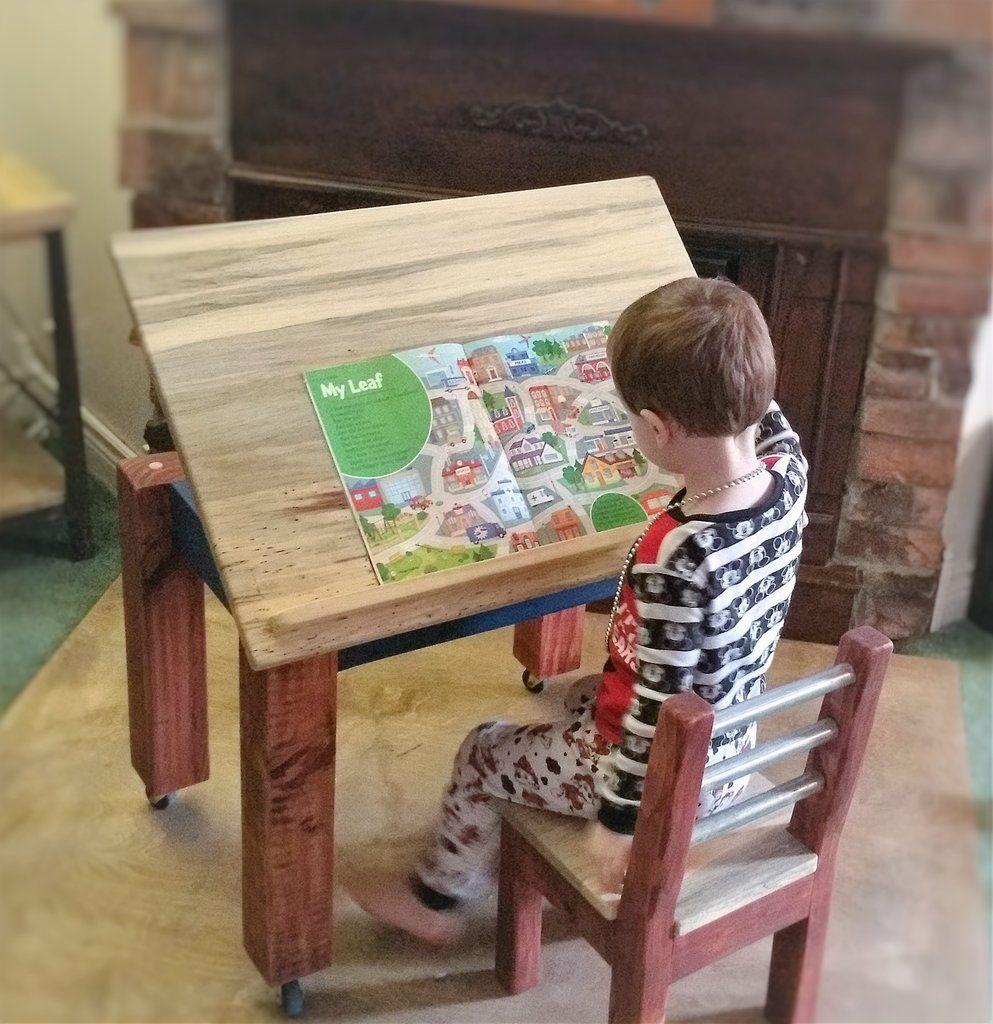 Kids Art Desk Easel Drafting Desk Table Set Childs Activity