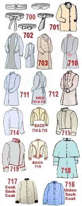 Civil War uniform pattern picture \ Winchester Sutler (whose