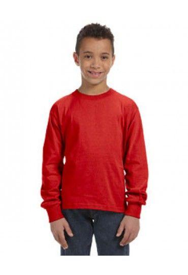 Fruit of the Loom 4930B Youth 5 oz., 100% Heavy Cotton HD Long-Sleeve T-Shirt