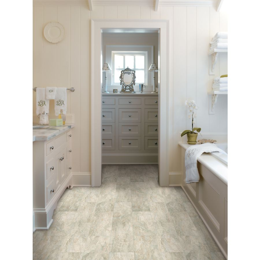 Shop Stainmaster 12 Ft W Neutral Embossed Stone Finish Sheet Vinyl At Love Flooring