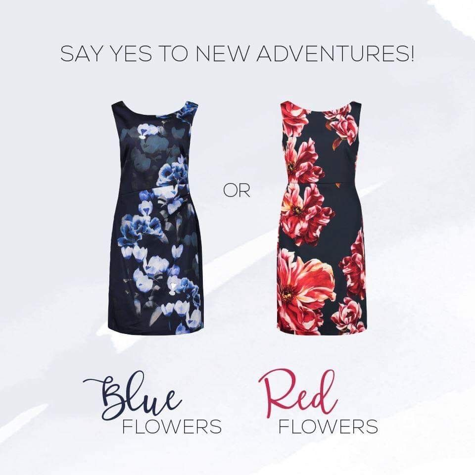 floral special occasion dress vera mont | affordable clothes