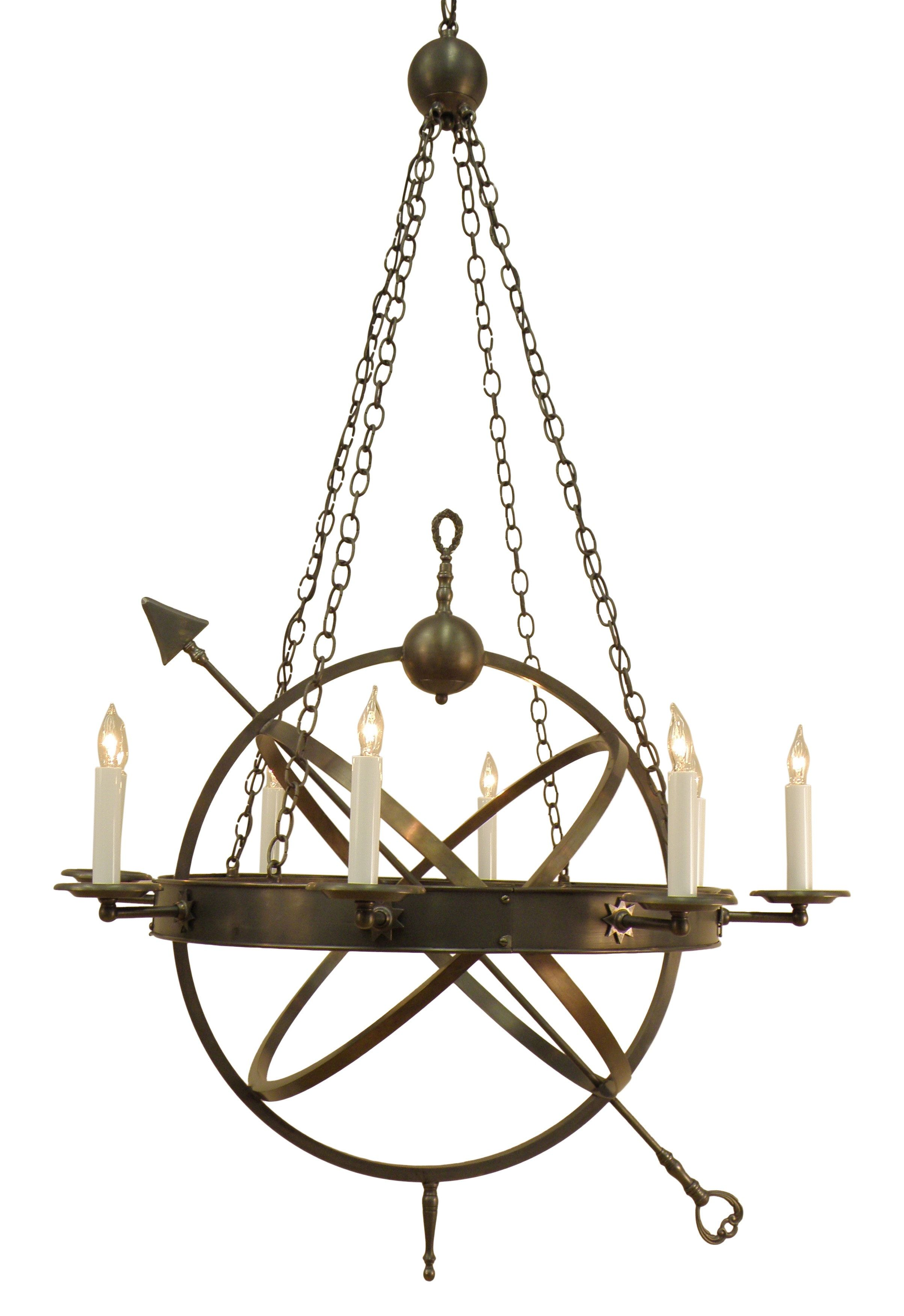 Buy the armillary sphere chandelier by authentic designs made to buy the armillary sphere chandelier by authentic designs made to order designer chandeliers from dering halls collection of contemporary rustic folk aloadofball Image collections
