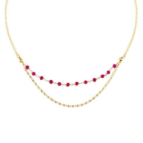 collier ras de cou rubis