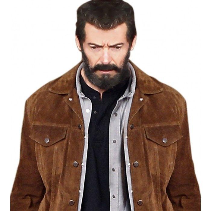 1ce21bdaa Logan Hugh Jackman Suede Jacket | Brown Suede Jacket in 2019 | Bag ...