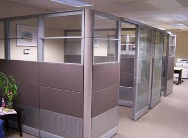 Office Cubicles With Glass Doors Cubicle Design Cubicle Walls Office Cubicle Design
