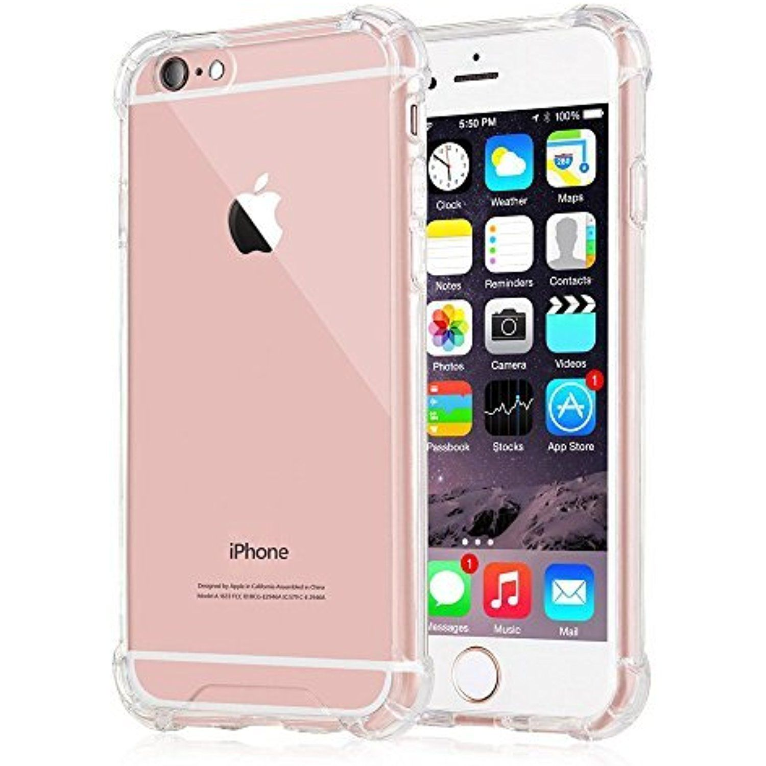 iPhone 6s Case,Yoyamo iPhone 6s Crystal Clear Cover Case [Shock ...