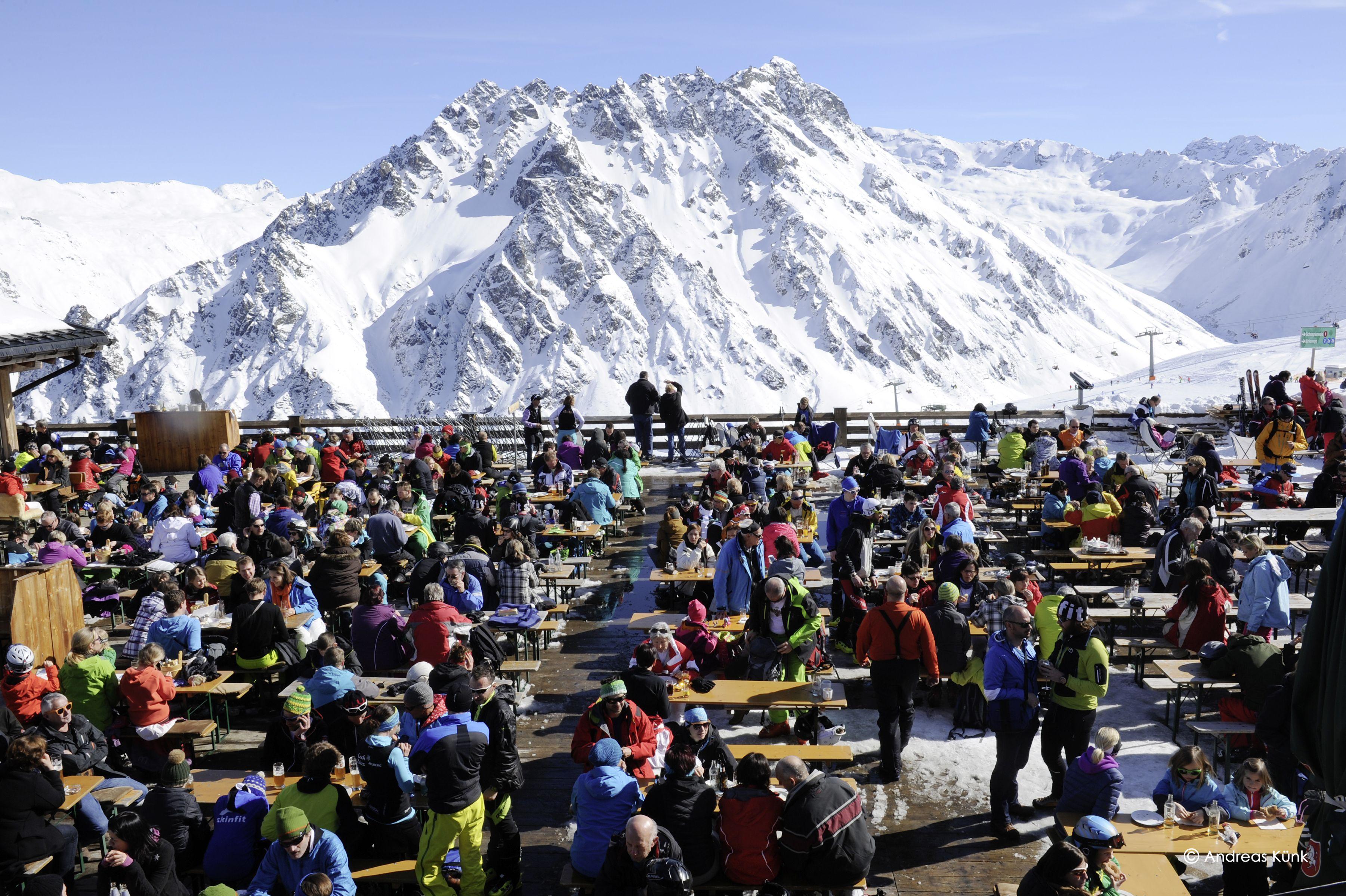 Nicht nur die Teilnehmer sondern auch die Zuschauer hatten einen wahnsinns Tag in Gargellen im Schafberg Hüsli.