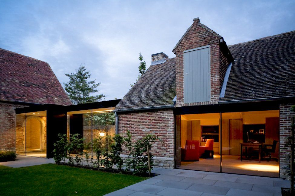 House GL by Architectslab belgium Architecture old vs new