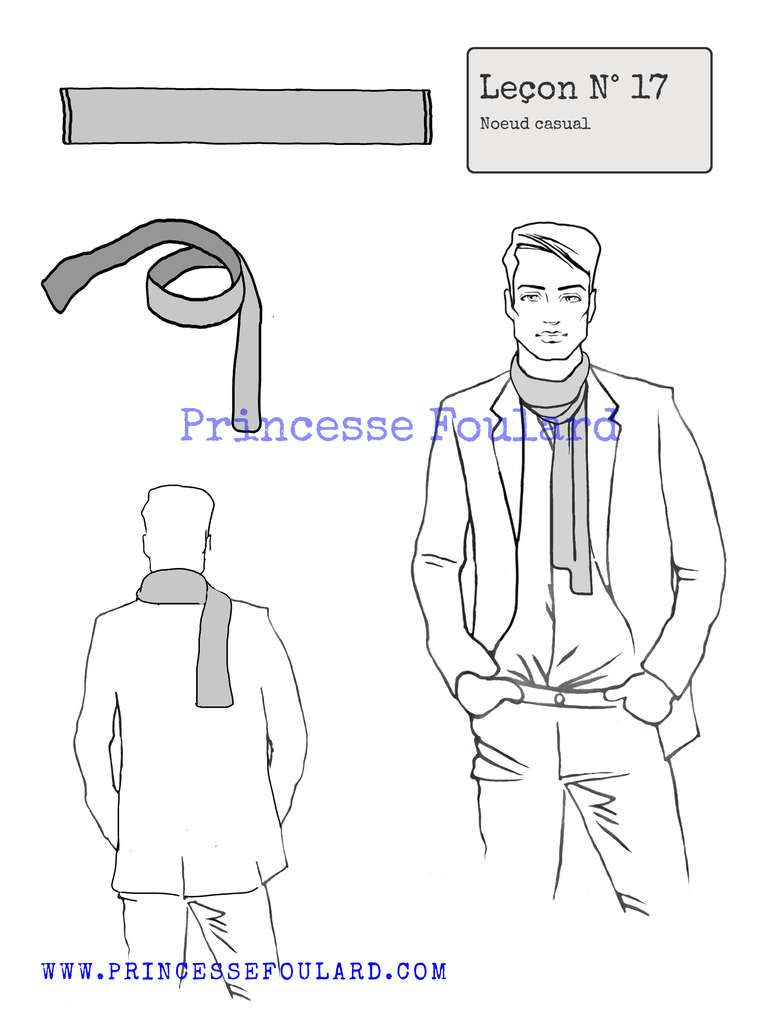 Pour un homme ou une femme comment porter un foulard ou une écharpe style  casual décontracté, un tutoriel pour nouer son foulard. d33cec5417c