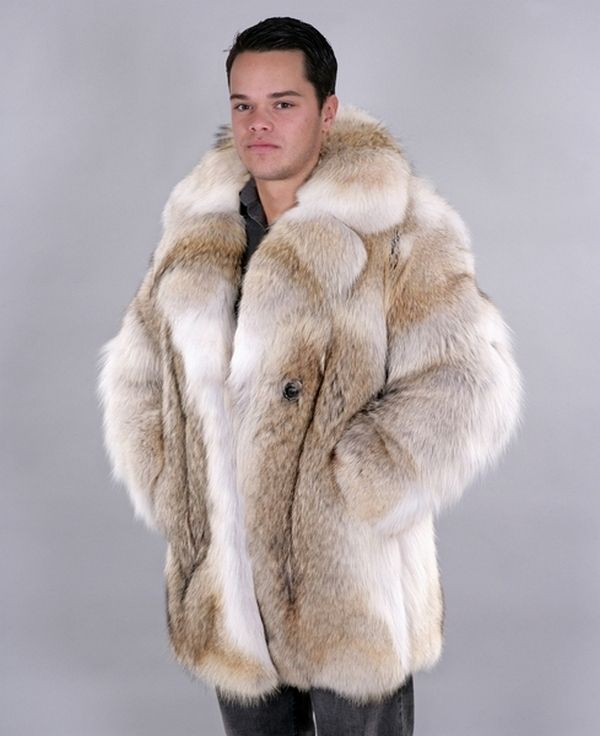 Men's Coyote Fur Coat | Fur Jackets / Parkas for real Dudes ...