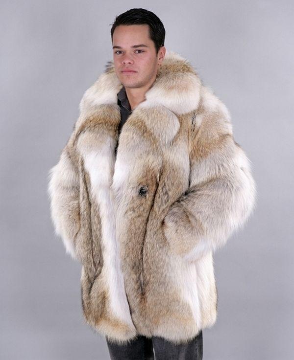 Mens Coyote Fur Coat