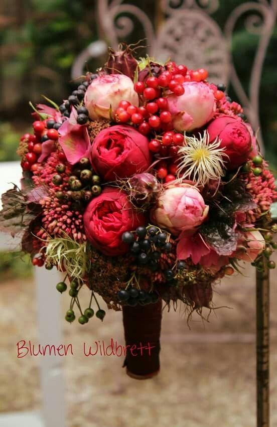 Roter Herbst  hochzeit in 2019  Wedding bouquets