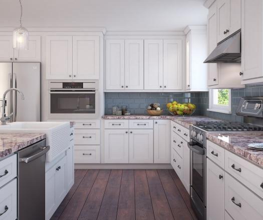 Brilliant White Shaker RTA Cabinets | Assembled kitchen ...