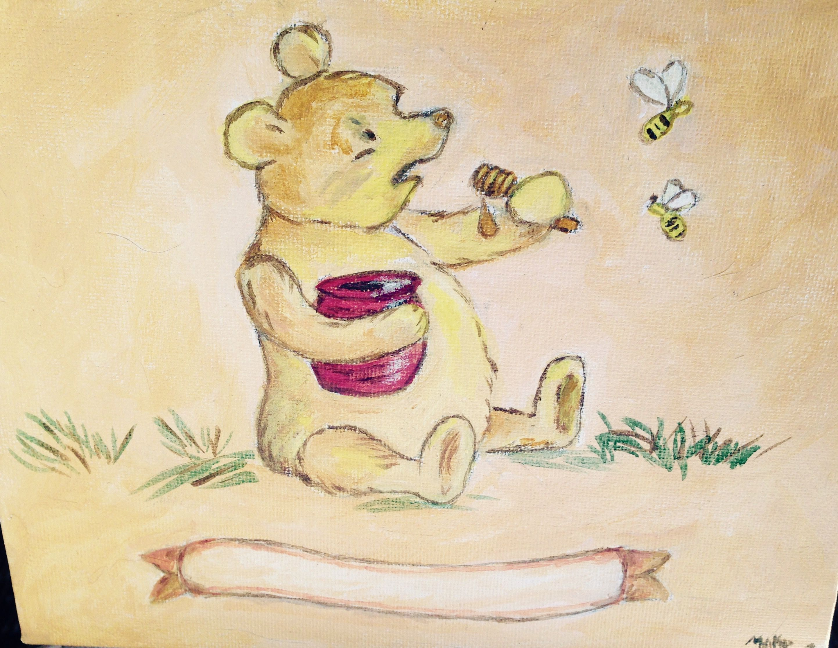 """Pooh"" name to be added, in acrylic by MAKP"