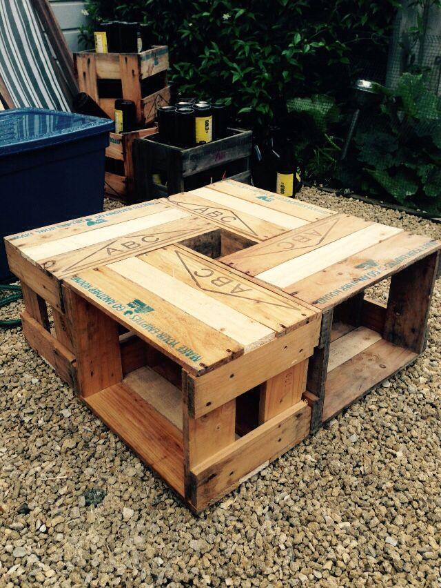 Beer Crate Coffee Table Beer Crate Crate Table Crate Coffee Table