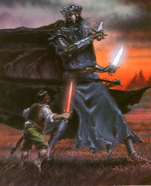 acicueta: Luca Michelucci - The Witch King and Meriadoc Brandybuck