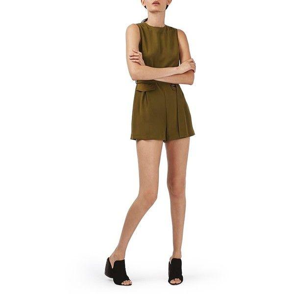 Women's Topshop Belted Sleeveless Romper (600 HRK) Liked