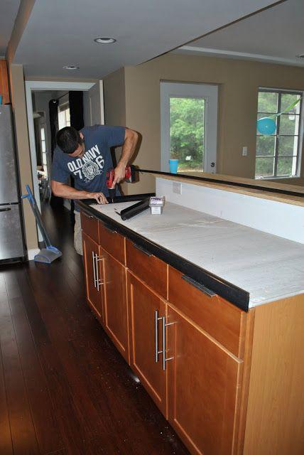 Pour In Place Concrete Counters Diy Concrete Countertops