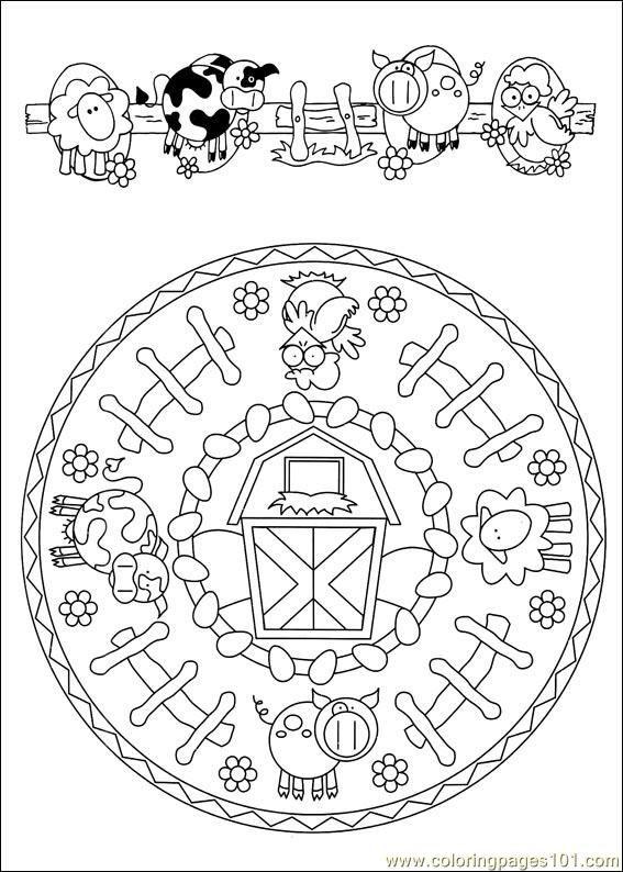 Mandala les animaux de la ferme | Mandalas | Pinterest