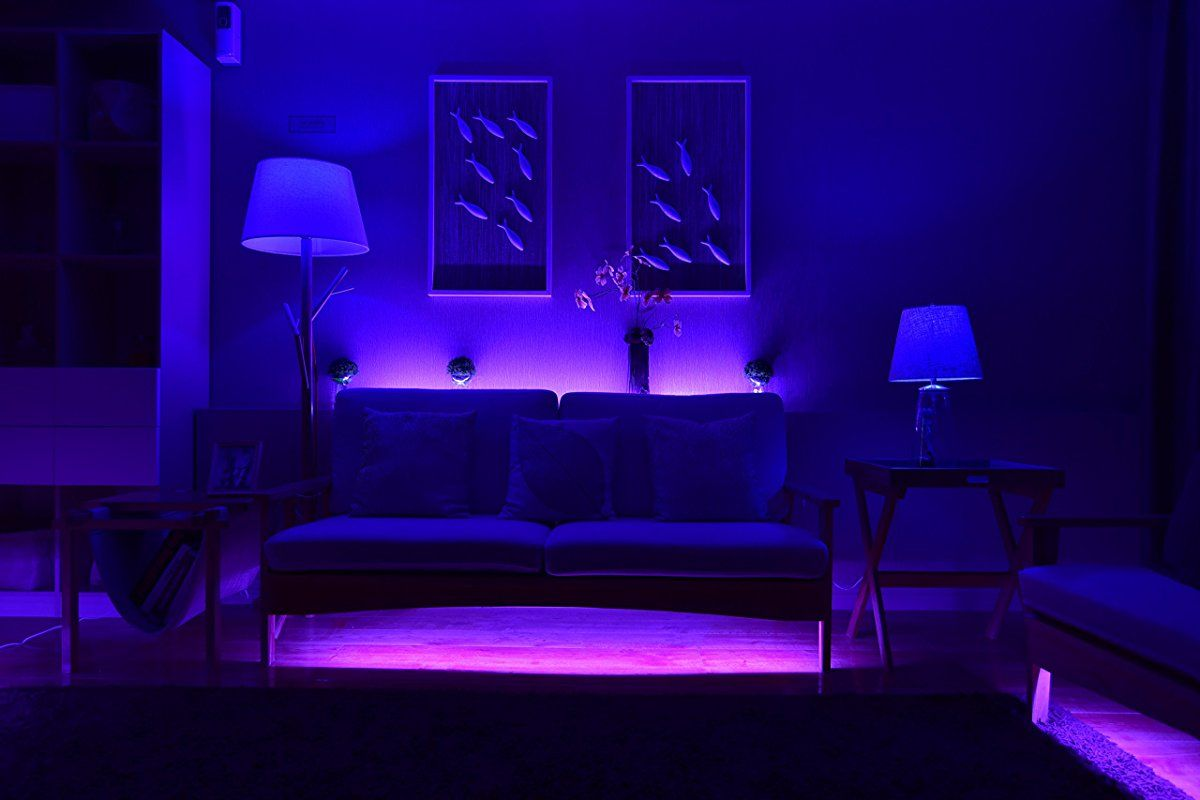 Smart Wifi Led Lightstrip Color Changing Light Strip Rope Android Ios Smartphone And Amazon Alexa Compatible Indoor Bedroom Under Cabinet Tv Lighting 6 5ft Color Changing Lights Strip Lighting Smart Lighting