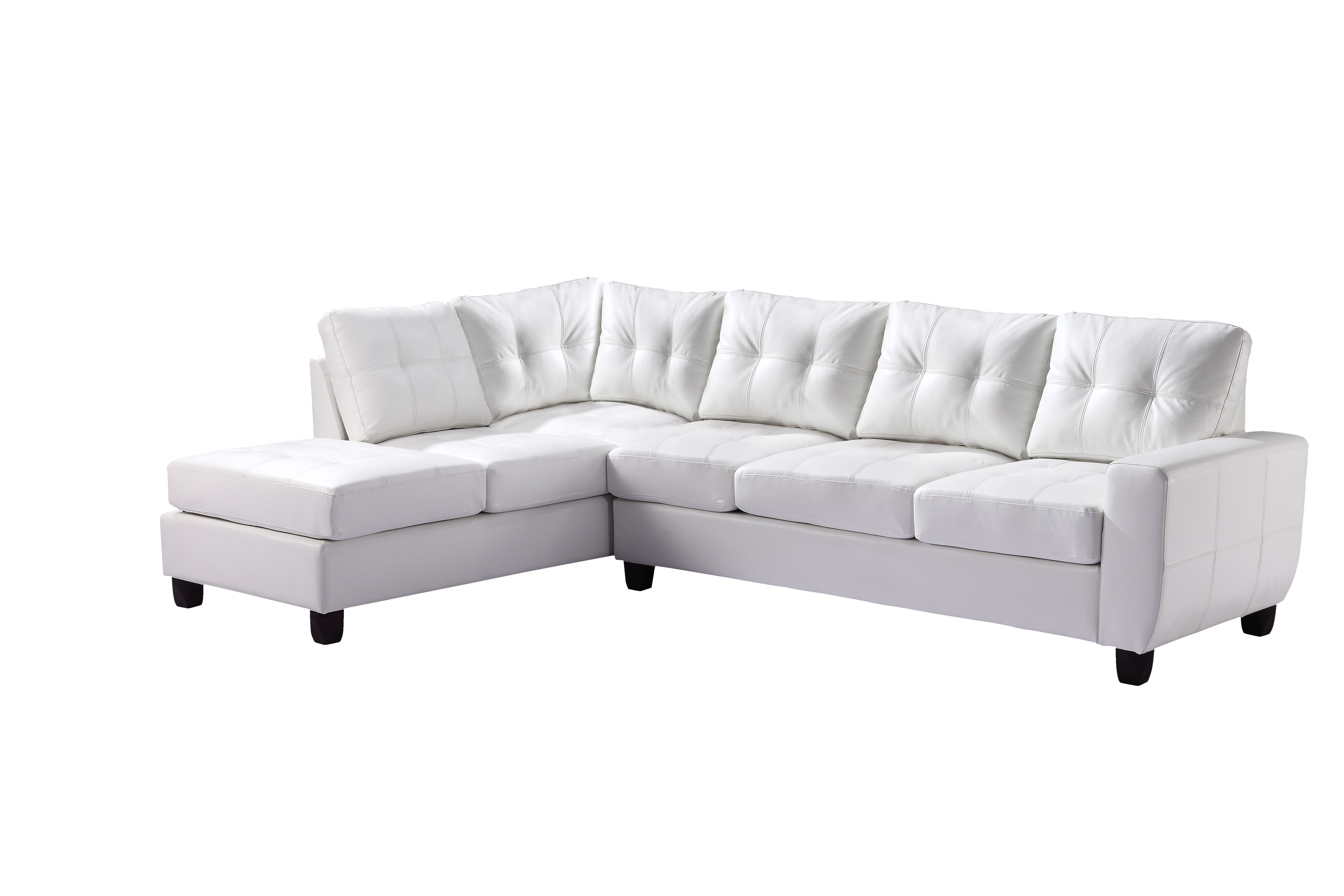 Glory White Polyurethane Sectional Reviews Goedekers Com Sectional Sofa Couch Luxury Sofa Modern Sectional Sofa