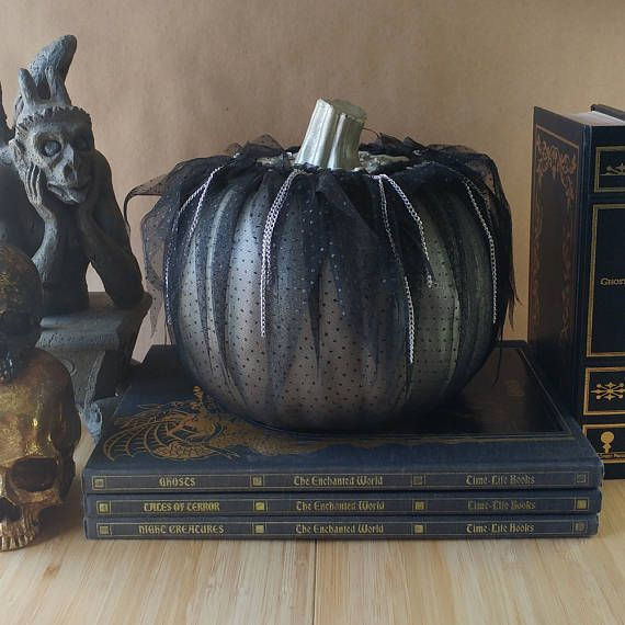 Metallic Silver Gothic Punk Pumpkin Halloween Decoration Witches - decorate halloween bags