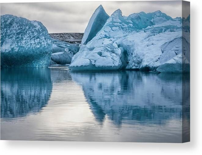 Iceland Glacier Lagoon Ii Canvas Print Canvas Art By Joan Carroll In 2021 Water Reflection Photography Iceland Glacier Glacier