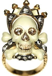 CODOGNATO Vanity Crowned Skull Ring - Phenomenal Jewels