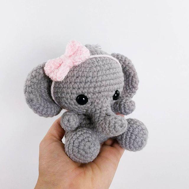 crochet elephant - amigurumi elephant - crochet elephant pattern ...