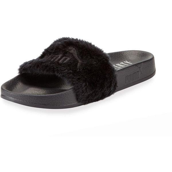 9daba65a3781 Fenty Puma By Rihanna Leadcat Fenty Faux-Fur Slide Sandal ( 80) ❤ liked