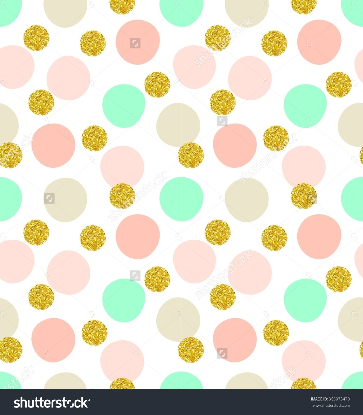 cute kids polka dot colorful seamless pattern with