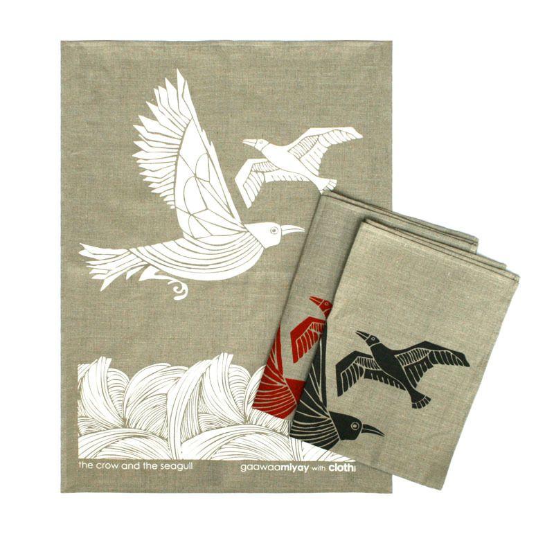 Tea Towels Pillow Talk: Cloth Crow And Seagull Tea Towels