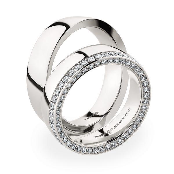 Platin Eheringe mit GlitzerOffensive Diamanten