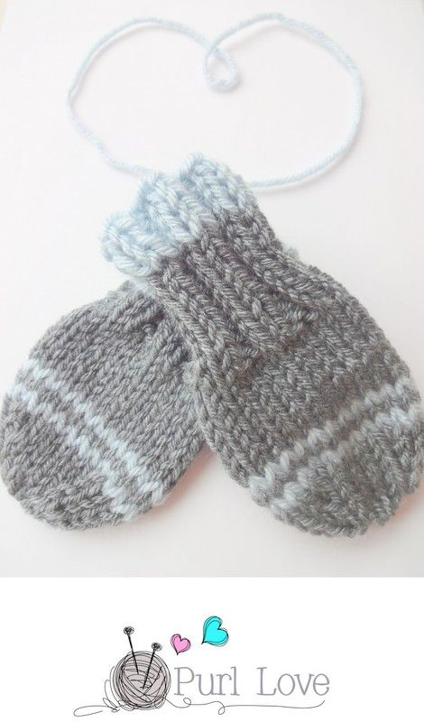 baby mittens knitting pattern by Purl Love | Knitting | Pinterest ...