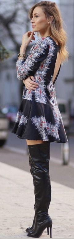 Vintage Print Dress – Fashion Spot #vintage