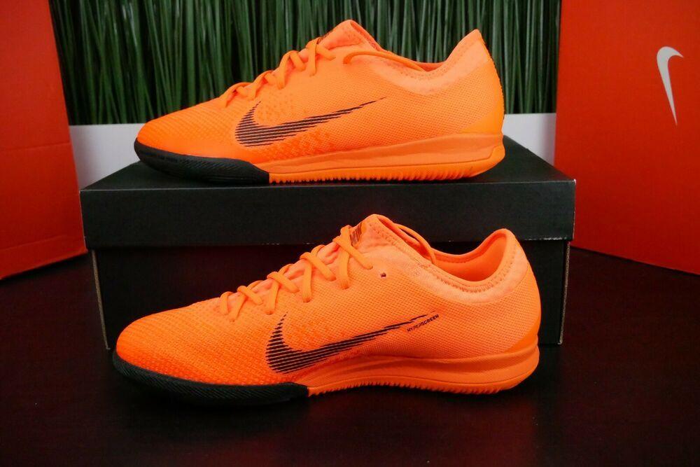 8206ce61724 eBay  Sponsored Nike Mercurial Vapor X 12 Pro IC Orange Men s Soccer Indoor  AH7387-810 Size 9