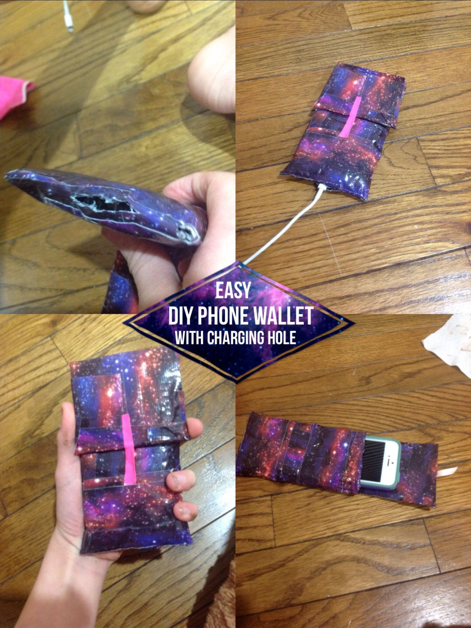 An easy diy yourself phone wallet! Made of duct tape