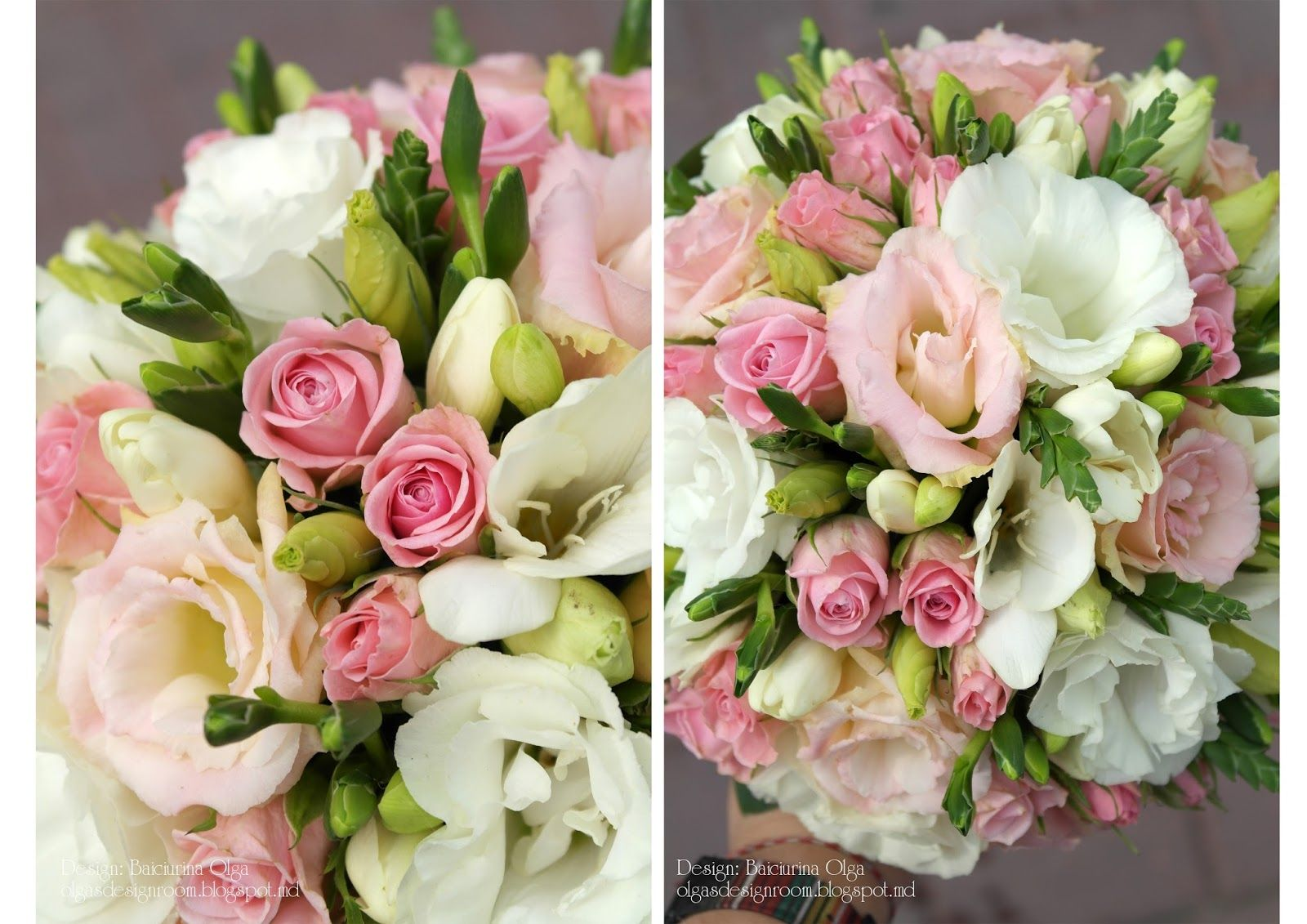 Easter wedding bouquets  Нежнейший букетик из ароматных фрезийкустовых розочек и эустом