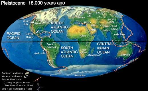 Earth during Pleistocene, 18,000 years ago