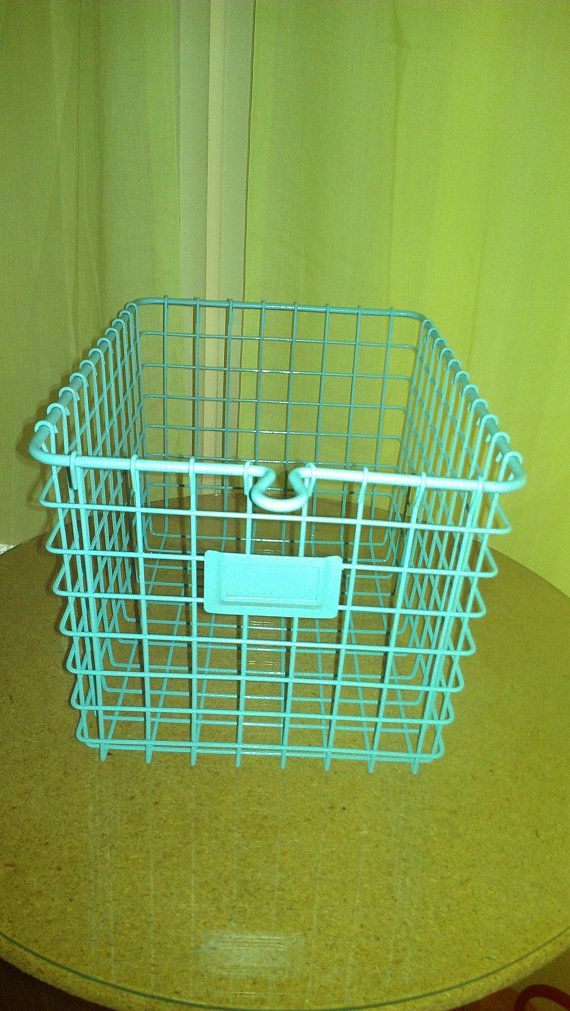 Painted Wire Gym Basket by houndstoothandpastel on Etsy, $22.50