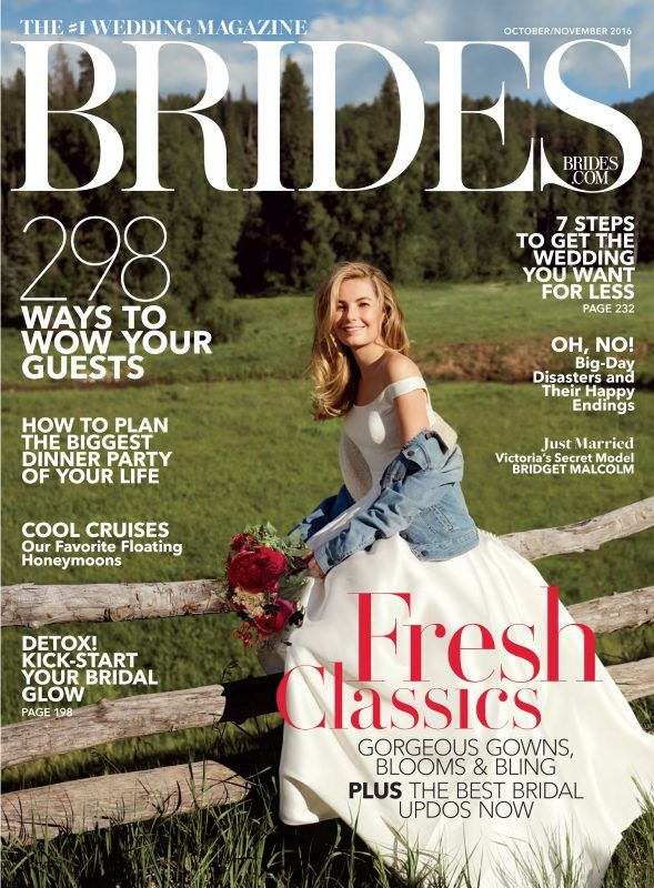 We Are Very Excited To Be On The Front Cover Of Brides Magazine October November 2016 Featuring A Brand New 2017 Collection Wedding Dress