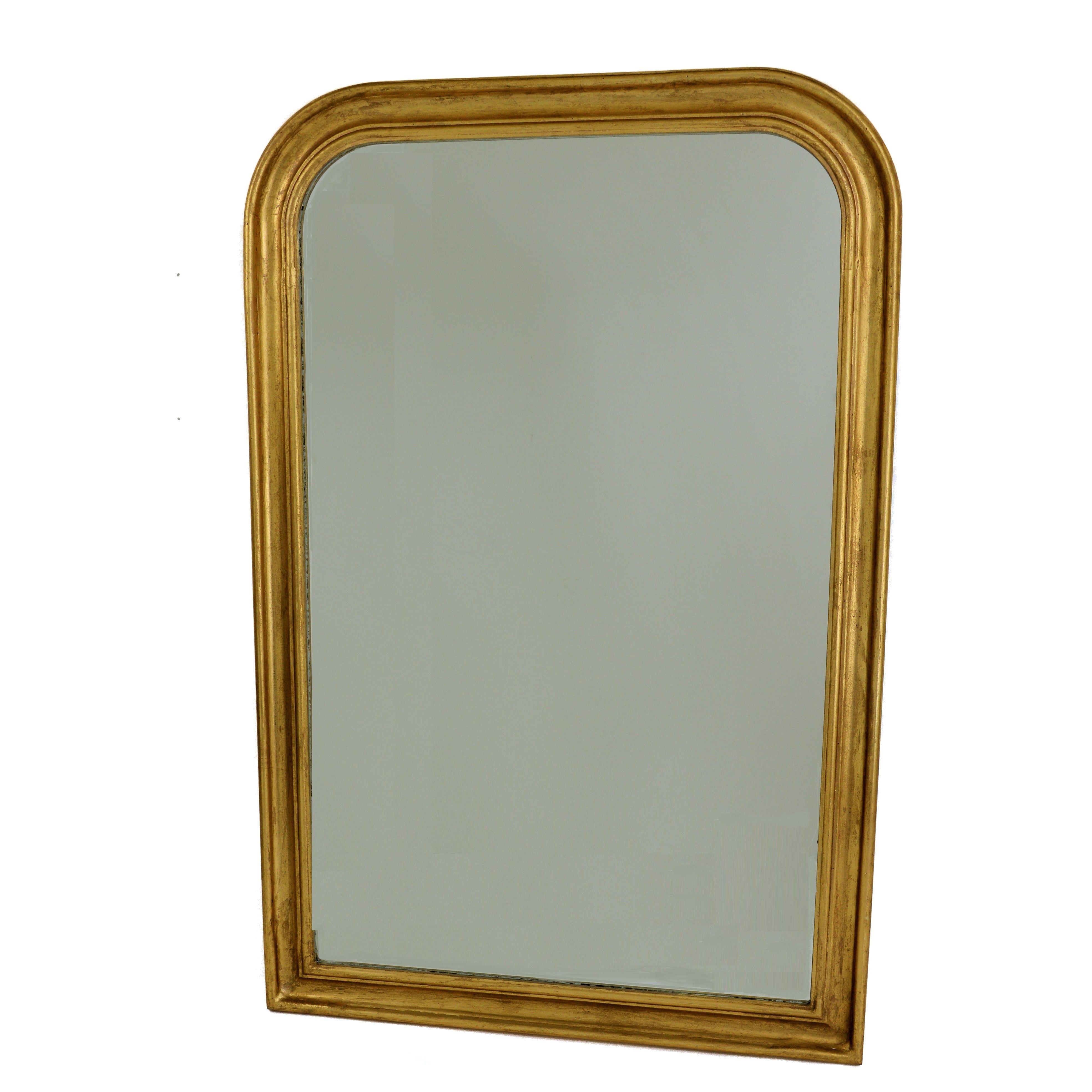 Nova Gold Leaf Wooden Louis Philippe Mirror Size 36 X 54 H