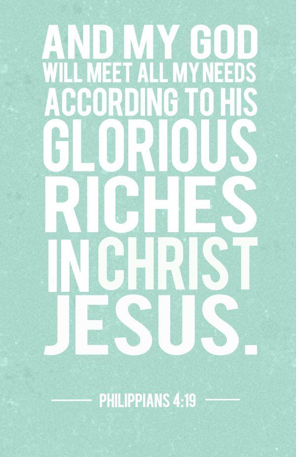 my god will meet all your needs bible verse