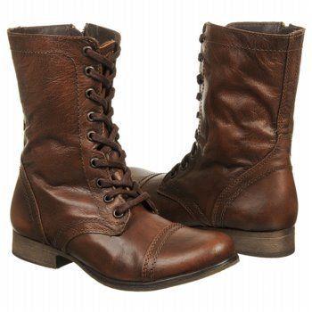 8ae5c3017ea Details about Steve Madden TROOPA Womens Brown Leather High Lace Up ...