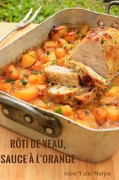 Photo of This veal roast with orange is simply delicious!- To bring f…