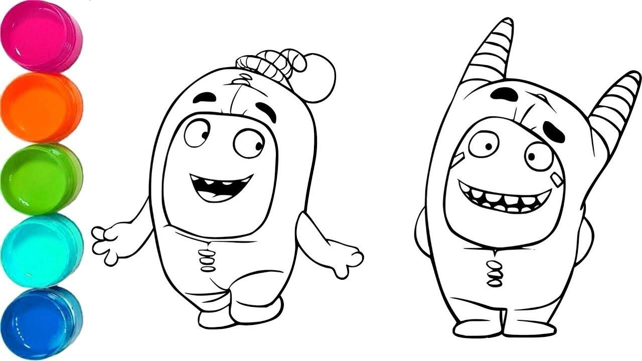 10 Coloring Page Oddbods Cute Coloring Pages Cartoon Coloring Pages Coloring Pages